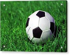 Football Acrylic Print by Kelly Bowden