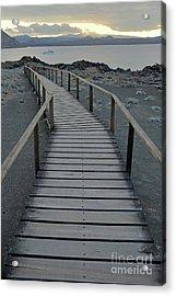 Footbridge On Volcanic Landscape Acrylic Print by Sami Sarkis