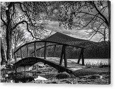 Footbridge Peaks Of Otter - Virginia Acrylic Print