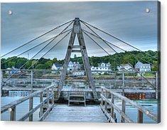 Footbridge Tower Acrylic Print by Ron St Jean