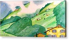 Foothills Of Au Acrylic Print