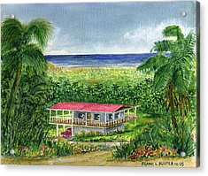 Foothills Of El Yunque Puerto Rico Acrylic Print by Frank Hunter