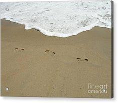 Acrylic Print featuring the photograph Footprints by Arlene Carmel