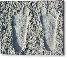 Acrylic Print featuring the photograph Footprints by Eve Spring