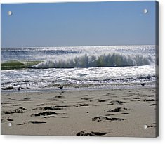 Footsteps To The Shore Acrylic Print