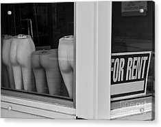 For Rent Acrylic Print by David Gordon