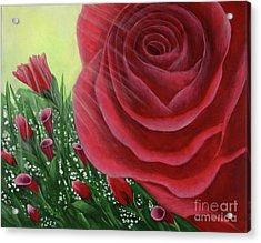 For The Love Of Roses Acrylic Print by Kristi Roberts