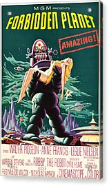 Forbidden Planet, Robby The Robot, Anne Acrylic Print by Everett
