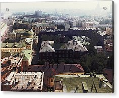 forbidden view over Moscow Acrylic Print by Nafets Nuarb