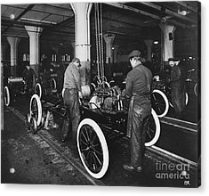 Ford Assembly Line Acrylic Print by Omikron