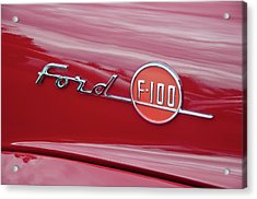 Ford F-100 Nameplate Acrylic Print by Guy Whiteley
