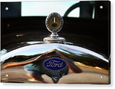 Ford Model T Hood Ornament Acrylic Print by Bill Cannon