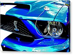 Acrylic Print featuring the digital art Ford Mustang Cobra by Tony Cooper