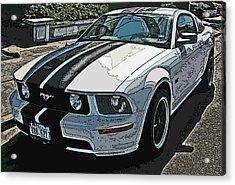 Ford Mustang Gt No. 2 Acrylic Print by Samuel Sheats