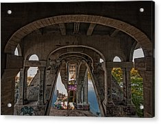 Acrylic Print featuring the photograph Ford Parkway Bridge by Tom Gort