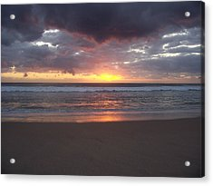 Acrylic Print featuring the photograph Foreboding Sky by Sheila Silverstein