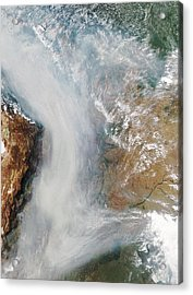 Forest Fires In South America Acrylic Print by Nasa