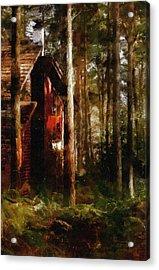 Forest In Fall Acrylic Print by Georgiana Romanovna