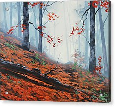 Forest Leaves Acrylic Print
