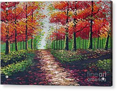 Forest Path - Detail Acrylic Print by Kostas Dendrinos