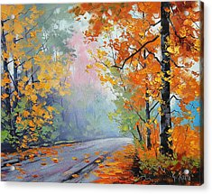 Forest Road Acrylic Print by Graham Gercken