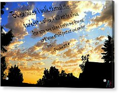 Forever A Comfort Acrylic Print by Amanda Rose