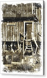 Forgotten Wooden House Acrylic Print by Heiko Koehrer-Wagner