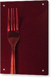 Fork In The Red Acrylic Print by Guy Ricketts