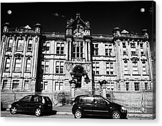 Former Kilmarnock Technical School And Academy Building Now Academy Apartments Scotland Uk Acrylic Print by Joe Fox