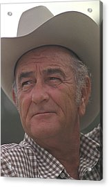 Former President Lyndon Johnson. Lbj Acrylic Print by Everett