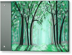 Forrest Acrylic Print by Kat Beights