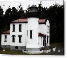 Fort Casey Lighthouse Acrylic Print by Lee Yang