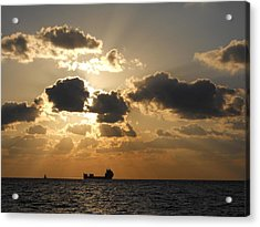 Acrylic Print featuring the photograph Fort Lauderdale Sunrise by Clara Sue Beym