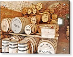 Fort Macon Food Supplies_9070_3759 Acrylic Print by Michael Peychich