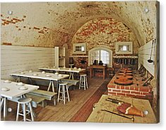 Fort Macon Mess Hall_9078_3765 Acrylic Print by Michael Peychich
