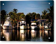 Fort Pierce Marina Acrylic Print