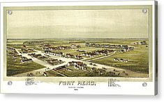 Fort Reno Oklahoma Territory 1891 Acrylic Print by Donna Leach