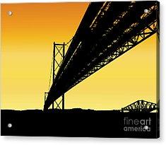 Forth Bridges Silhouette Acrylic Print
