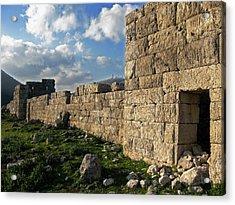 Fortified Citadel Acrylic Print by Andonis Katanos