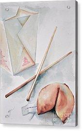 Fortune Cookie Acrylic Print by Elizabeth York