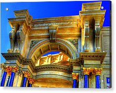 Forum Shops Arch Acrylic Print by Linda Edgecomb