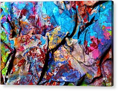 Found Art Studio Rag Acrylic Print by John  Nolan