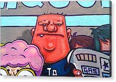 Found Graffiti 29 La Fang Acrylic Print by Jera Sky