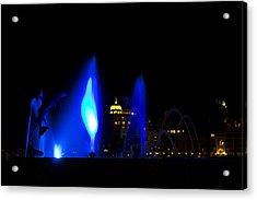 Fountain Bay  Blue Acrylic Print by Nicholas Evans