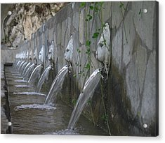 Acrylic Print featuring the photograph Fountain by David Gleeson