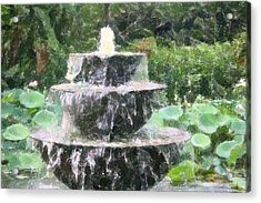 Acrylic Print featuring the photograph Fountain by Donna  Smith