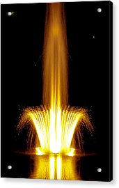 Fountain Flames Acrylic Print by DigiArt Diaries by Vicky B Fuller