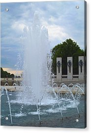 Acrylic Print featuring the photograph Fountain In D.c. by Susi Stroud