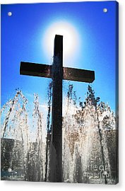 Fountain Of Hope Acrylic Print by Denise Hopkins