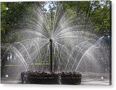 Fountain  Peterhof Palace  St Petersburg   Russia Acrylic Print by Clare Bambers